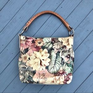 Maurizio Tauiti genuine leather floral hobo bag